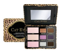 China Hot Famous Brand sugar pop cat eyes totally cute eyeshadow palette makeup sweet peach eye shadow cosmetics 1 set 9 colors free dhl suppliers