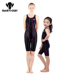 suits for swimming 2019 - Wholesale- HXBY Professional Swimwear Women Bathing Suits One Piece Swimsuit For Girls Swim Wear Women's Swimsuits