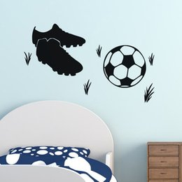 living sports Canada - Soccer sports shoes creative wall stickers children bedroom living room personalized waterproof can be removed stickers