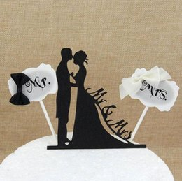 $enCountryForm.capitalKeyWord Australia - cake toppers MR MRS lover lace cards banner for fruit Cupcake Wrapper Baking Cup birthday tea party wedding decoration baby shower
