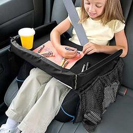 $enCountryForm.capitalKeyWord Australia - Waterproof Baby Kids Toddler Car Seat Portable Food Snack Play Travel Tray On the Go Drawing Board Table Organizer (black)