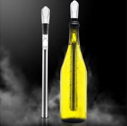 Cadeau En Acier Inoxydable Refroidisseur de Vin Refroidisseur Refroidissement Refroidissement Bâton avec Verser Accessoire Vin Pratique Grand Vin Accessoire en Solde