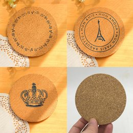 table ideas Canada - 10cm*0.5cm Round Shape Plain Cork Coasters Heat Resistant Tea Drink Wine Coffee Cup Mat Pad Table Decor - ideas for wedding party gift