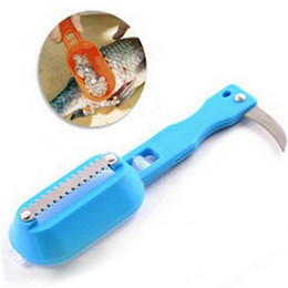 Fish Skin Remover Canada - Fish Scales Skin Remover Scaler and knife Fast Cleaner Home Kitchen Clean Tools