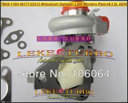 venda por atacado Td04 49177-02513 49177-07612 MD194845 MR355225 Turbo Para Mitsubishi L200 Montero Pajero II Para Hyundai Galloper 4D56Q 4D56 2.5L