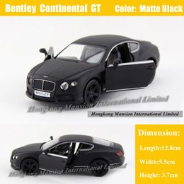 Discount black metal collection - 1:36 Scale Diecast Alloy Metal Car Model ForBentley Continental GT Collection Licensed Model Pull Back Toys Car - Matte