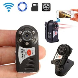 Camera pC video wireless online shopping - Protable Mini WiFi IP Camera Q7 MINI Sports DV DVR Wireless IR night vision PC Webcam DVR Video Camcorder with retail box
