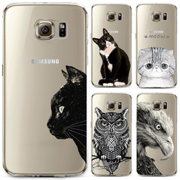 $enCountryForm.capitalKeyWord NZ - Soft TPU Owl Phone Case For Samsung S4 S5 S6 S6edge S6edge+ S7 S7edge N4 N5 Silicon Transparent Thin Cover Cute Cat Animal Cover