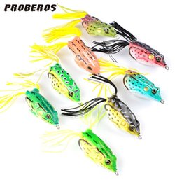fishing soft plastic baits 2019 - 8pcs Plastic Fishing Lures Frog Lure Treble Hooks Mini Frog Lure Bait Artificial Bait 8 Colors 2530003 cheap fishing sof
