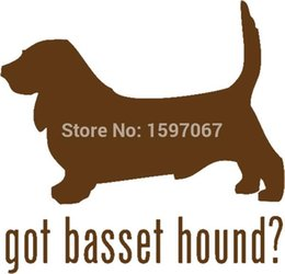 $enCountryForm.capitalKeyWord Canada - Wholesale 20pcs lot Home Decorations Automobile and Motorcycle Vinyl Decal Car Glass window Stickers Jdm Basset Hound Dog Hunting Pet