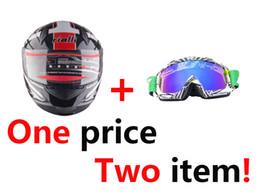 Full Atv Canada - RIALLI Helmet & Goggles set Full Face Motorbike Motorcycle Street Bike Helmet + Off-Road Racing Motocross ATV Bikes Motorcycle Goggles Eyewe