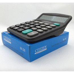 Digit Tools Canada - Portable Office School Commercial Tool Battery or Solar 2in1 Powered 12 Digit Electronic Calculator with Big Button, Retail box packaging