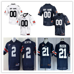 2085bdb5f ... Mens Auburn Tigers College Football Custom 2 7 21 34 80 90 White Navy  Blue Limited ...