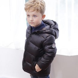 Manteaux Pour Bébés Pas Cher-New Winter Baby Girls Boys Down Jacket Coat Enfants Outwear à capuchon Warm Coat Enfants Wadded Vestes Manteaux 6 Couleurs 12641
