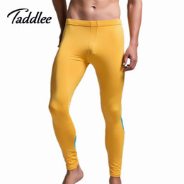 tight sleepwear 2019 - Wholesale-Men High Stretch Tight Pants Long pants Low Waist Sexy Mens Legging Pant Man Man new Sexy Designed Sweatpants
