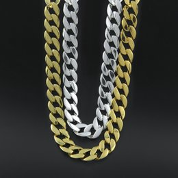 Discount long chain lockets - 2017 Hiphop Rock 1CM Crude twist chain Gold Plated Fashion Long Necklace Pendant for Men Women Christmas gift fine Jewel