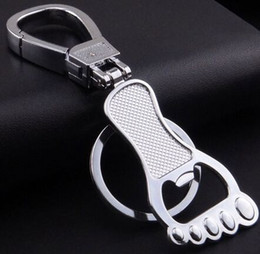 $enCountryForm.capitalKeyWord Canada - NEW product !Creative Design Personalized Foot Bottle Opener Keychain Key ring Alloy Valentines Gift free shipping