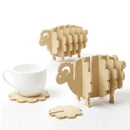 $enCountryForm.capitalKeyWord Canada - Wholesale- Mini Pallet Wood Coasters Wood Place Mat Coffee Cup Home Decor DIY Handmade Coaster Sheep Shape Wood Table Mat Bar Tool GI880558