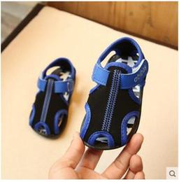Brown Toddler Sandals Australia - 2017 summer new Korean boy children sandals shoes baby girls toddler shoes children shoes Baotou Beach