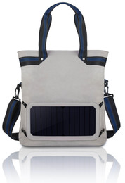 2018 foldable charger Hot Sale Fashion Leisure Handbag Large Capacity Brand Shopping Bag with Solar Charger Sheet Shoulder Bag Multifunctional