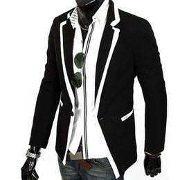 Discount korean fashion men suit coat - Wholesale- Hot trend menswear man fashion Korean style slim fit suit coats Men casual single button suit