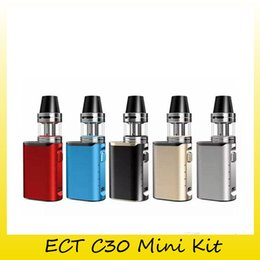 ElEctronic cigarEttE vaporizEr mod online shopping - Authentic ECT C30 Mini Met Kit with ml Atomizer mAh Box Mod Kenjoy Met Kit Vaporizer electronic cigarette Kit Genuine