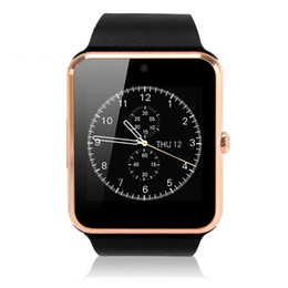 Wholesale 1 Piece Smartwatch GT08 Clock Sync Notifier With Sim card Bluetooth Smart Watch for Apple iPhone IOS Samsung Android Phone