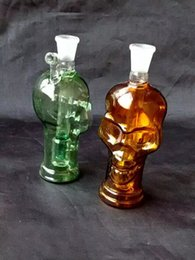 Glasses Spare Parts Canada - New colorful skull Glass Mini water bottle, free to spare parts.