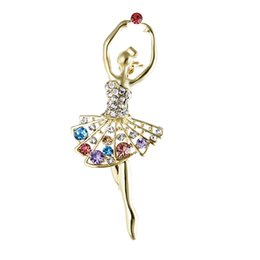 Hijab bouquets online shopping - Ballet Dancer Ballerinas Brooches Women Girls Cachecol Hijab Pin Up Clips Scarf Hats Shoulder Corsages Bouquet Joias Ouro Bijoux