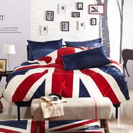 Discount velvet bedding sets - Flag Plush bedding, New Fashion Bedding Set 4pcs Duvet Cover Sets Soft velvet Bed Linen Flat Bed Sheet Set Pillowcase Ho