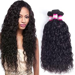 Venta al por mayor de El pelo humano virginal de Prettycoco 10A teje la onda del agua recta ondulada del pelo Onda profunda rizada rizada brasileña peruana del pelo de Remy