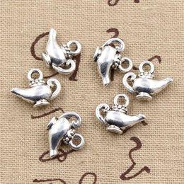 Discount handmade lamps - Wholesale-30pcs Charms aladdin magic lamp genie 15*12mm handmade Craft pendant making fit,Vintage Tibetan Silver,DIY for