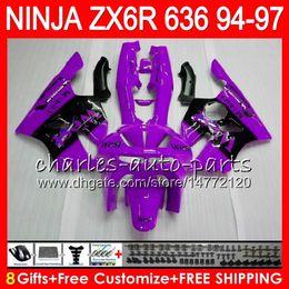 $enCountryForm.capitalKeyWord NZ - 8Gifts 23Colors For KAWASAKI NINJA ZX636 ZX6R 94 95 96 97 ZX 636 ZX 6R purple west 33NO57 600CC ZX-636 ZX-6R 1994 1995 1996 1997 Fairing kit