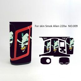sticker mod vape Canada - Alien 220W Skin Wraps Sticker Cases Cover for SMOK Alien 220 Watt TC Box Mod Vape Protective Film Stickers With Fashion 18 Pattern