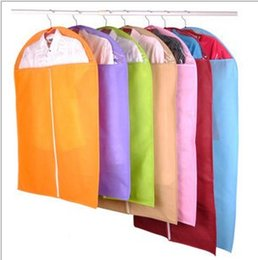 Suit protector garment bag online shopping - Hot New Clothes Dress Garment Suit Cover Bag Dustproof Jacket Skirt Storage Protector color random Top Quality