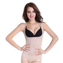 slimming weight loss shorts 2019 - Hot Sale Ladies Body sculpting clothing fat burning abdomen postpartum seamless underwear vest female Short Sleeve Top W