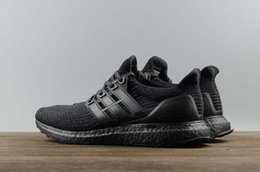 Super Boost Pas Cher-2017 Ultra boost UB 3.0 Super qualité A +++ Hot Triple Black BA8920 Chaussures de course Truth Boost 3 III Black Men Women Sneakers