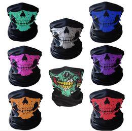 Motorcycle skull windproof online shopping - Motorcycle SKULL Ghost Face Windproof Mask Beanie Hat Outdoor Sports Warm Ski Mask Caps Bicyle Bike Balaclavas Bonnet Scarf Man