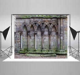 Wedding muslin backdrop online shopping - Castle Photography Backgrounds Broken Brick Wall Photo Backdrop for Wedding Backdrops Backgrounds