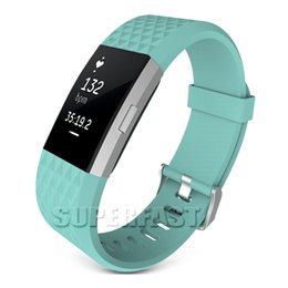 Wholesale For Fitbit Charge Replacement Sport Watch Band Silicone Smart Watch Bracelet Strap Sport Style Wristband Watches Band with OPP Package