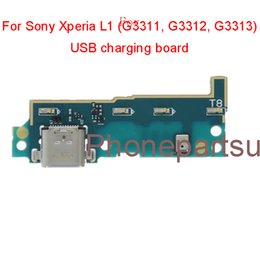 Charging Connector Types Australia - Original New For Sony Xperia L1 G3311 G3312 G3313 USB Charge Port Connector Charging Board Flex Cable USB type C connector Free Shipping