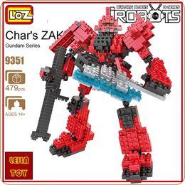 $enCountryForm.capitalKeyWord Canada - LOZ ideas Diamond Block am Char's ZAKU Robot Action Figure Minifigures Model Building Blocks DIY Toy Micro Bircks Toys 9351