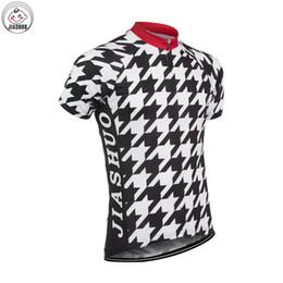 Personalizado NUEVO 2017 Houndstooth Clásica JIASHUO mtb road RACING Equipo Bike Pro Ciclismo Jersey / Camisas Tops Ropa Transpirable