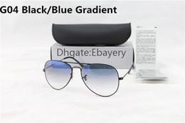 Yellow beach glasses online shopping - 1pcs Designer Classic Pilot Gradient Sunglasses For Men Women Metal Sun Glasses Eyewear Blue mm Glass Lenses With Case Box