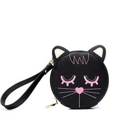 $enCountryForm.capitalKeyWord Canada - Brand 2017 Women Handbags Cute Cat Embroidery Day Clutches Mini Bag Coin Purse Female Bag Girls Wallet Pu Leather