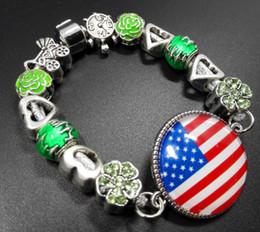 $enCountryForm.capitalKeyWord Canada - USA Flags Charm Bracelets Beaded Bracelets Hollow Out Crystal Beads 3 Style Women's Bracelets Jewelry 2017 Jewelry