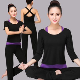$enCountryForm.capitalKeyWord Canada - Yoga suit female three sets of modal cotton thin autumn and winter long and short sleeves Yoga Outfits