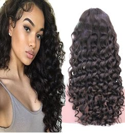 big curl hair wigs Australia - new loose curl Human Hair Wigs Bleached Knots Full Lace Wigs Brazilian Malaysian Medium Size Swiss Lace Cap Lace Front Wigs 150% density