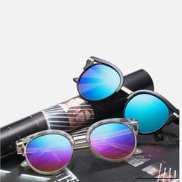 Chinese  Semi-Rimless Vinatge Round Hollow Sunglasses Women Men Sun Glasses Mirrors Pink Frame Aviator Eyewear Cheap Eyeglasses wholesale Retro manufacturers