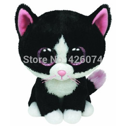 Pepper Toy Australia - Wholesale- TY Beanie Boos Big Eyes Pepper the Cat Stuffed Animals Kids Plush Toys For Children Gifts 15CM